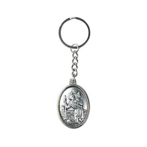 Schlüsselanhänger Heilige Christophorus in Silber