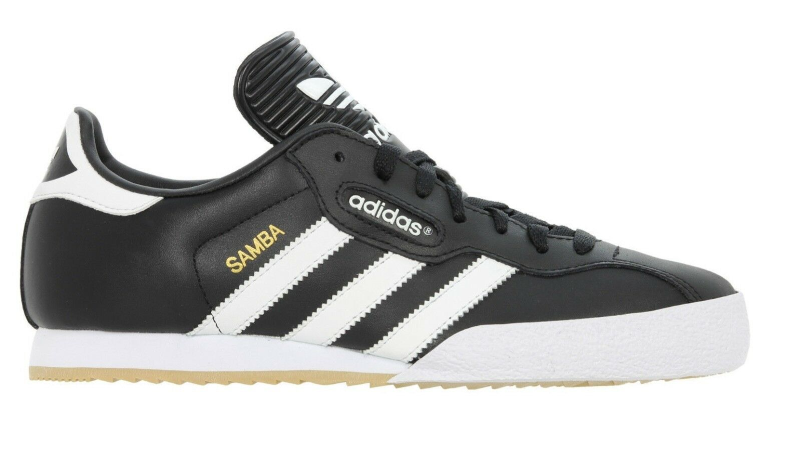 Adidas Original Homme Samba Super Chaussures Trainers Leather Noir Blanc    60