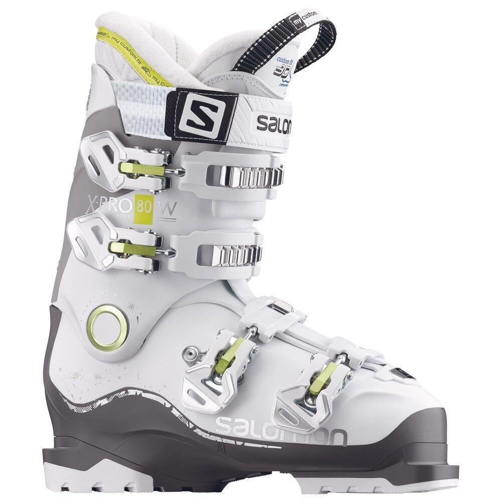 Salomon X Pro 80 W Ski shoes Ladies 3 D Inner shoes White NEW All Mountain S-N