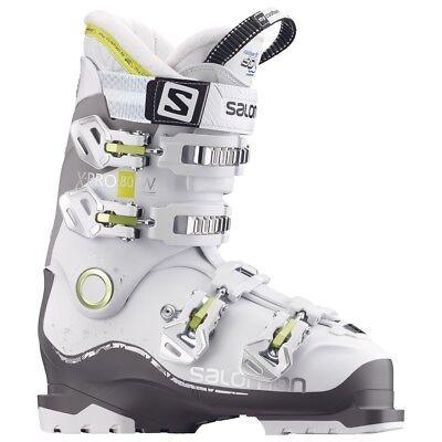 Salomon X Pro 80 w Ski Boot Womens 3 D Inner Shoe White New