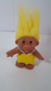 Cave-Woman-Troll-Doll-5-034-Yellow-Outfit-Hair-DAM-2005