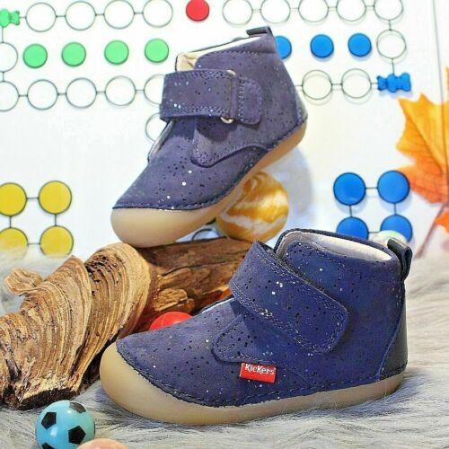 KICKERS SABIO Gr 21 /& 24 Kinder Babyschuhe Mädchen Lauflernschuhe Leder Glitzer