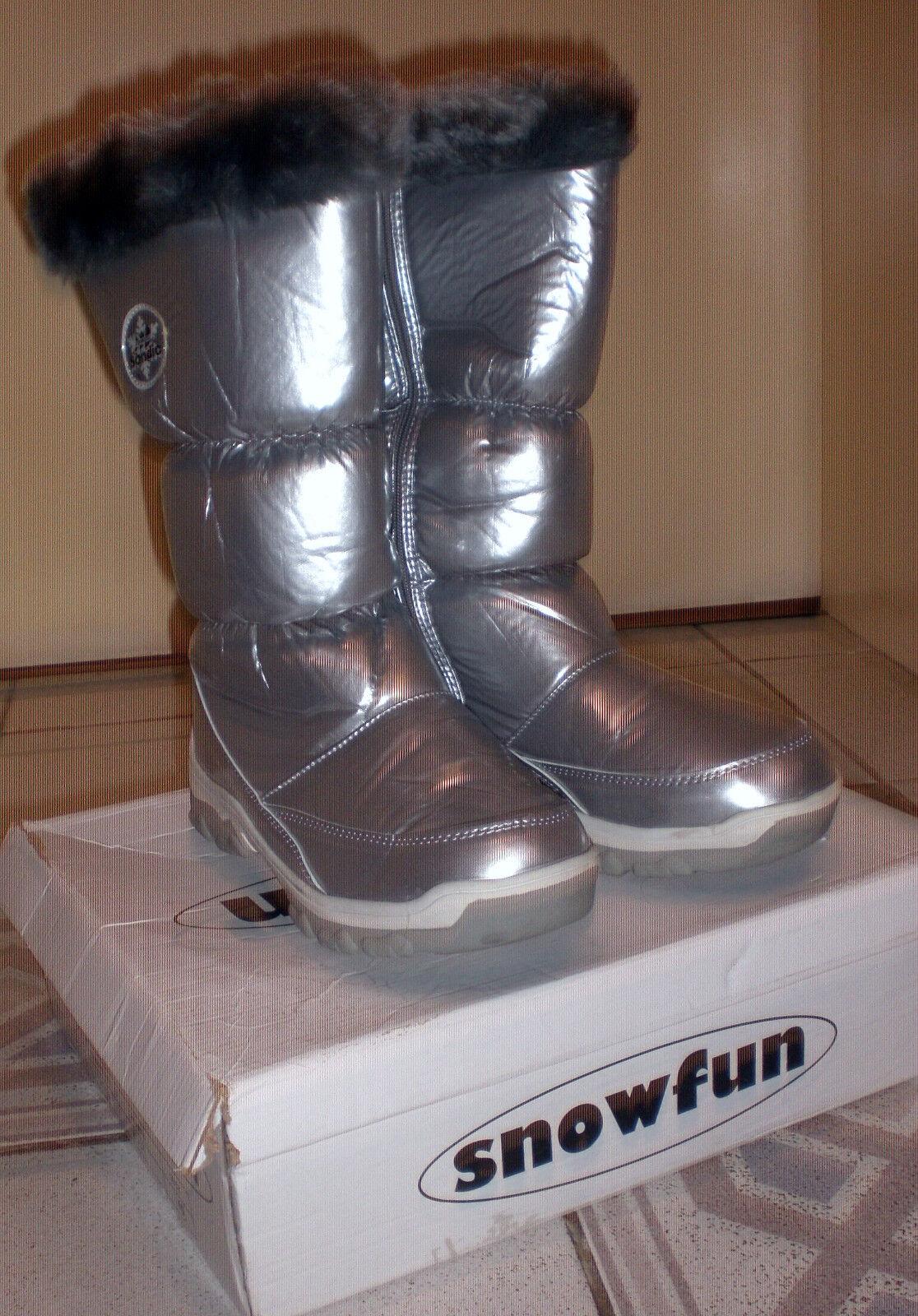 Sandio Stiefel SnowStiefelies Stiefel Gr.41 Gefüttert Fell Design Schnee Winter Neu