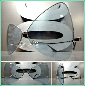 48ad5c9a38 Surdimensionné Style Rétro Lunettes de Soleil Papillon Noeud en ...