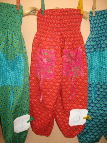 122 128 Hand Sommer Kinder Hose Pumphose Hippie Stoff Mädchen Jungen bunt 6 J