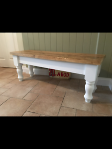 Astonishing Details About 4 5 6 7 8 Ft Solid Pine Bench Farmhouse Kitchen Bespoke Made Seat Dining Pabps2019 Chair Design Images Pabps2019Com