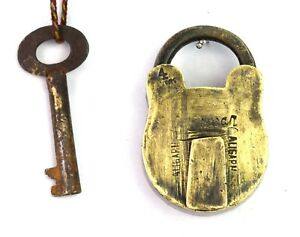 Antique-Padlock-Solid-Brass-Padlock-With-1-key-Home-Office-Safety-lock-G2-308-US