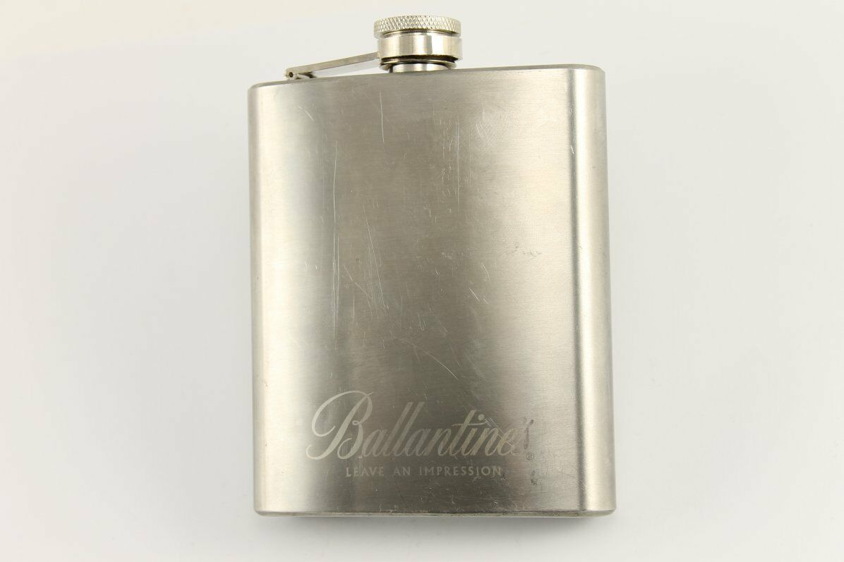 Vintage BALLANTINE'S Scotch Whisky Hip Flask 7 Oz
