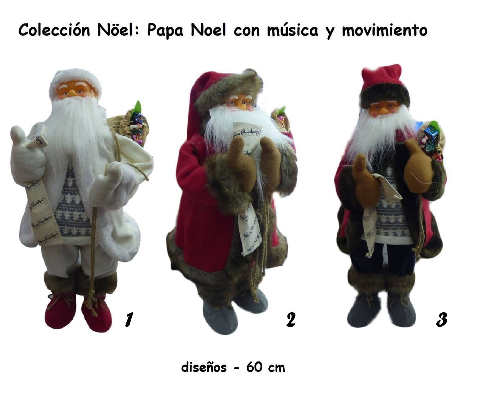 PAPA NOEL 60CM - MOVIMIENTO Y SONIDO DECORACION NAVIDAD (7924)