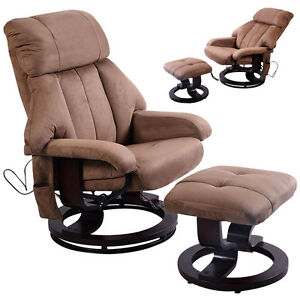 Image Is Loading Brown Leisure Recliner Chair Ottoman With 8 Motor