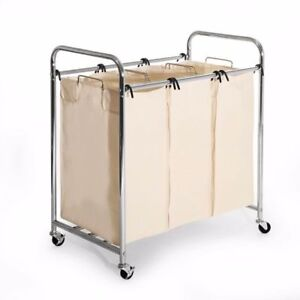 Image Is Loading Laundry Hamper With 3 Removable Bags Heavy Duty