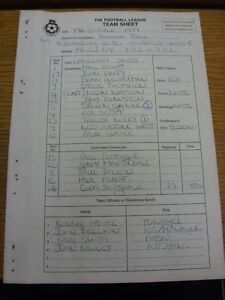 19-10-1999-The-Football-League-Team-Sheet-Rotherham-United-v-Hartlepool-Carbon