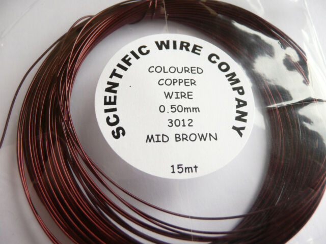 Coloured Copper Craft/Jewellery Wire - 0.50mm or 0.90mm Coils Choose Colour