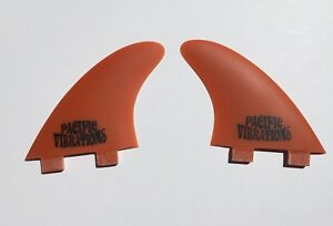 Pacific Vibrations Futures Surfboard Longboard FINS Modern Performance 4.52 Side Bites Futures