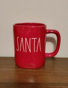 New-Rae-Dunn-2019-HTF-Rare-Christmas-Red-SANTA-Mug-LL-Large-Letter-By-Magenta
