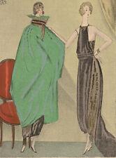 Gazette Du Bon Ton Mario Simon LES DEUX SOEURS De Beer Fashion POCHOIR Art Deco