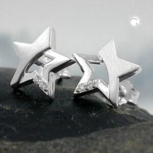 Stecker-Stern-mit-Zirkonia-Silber-925-Damen-Ohrschmuck