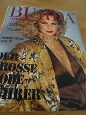 MAGAZINE BURDA INTERNATIONAL AUTOMNE/HIVER 78/79 MODE VINTAGE
