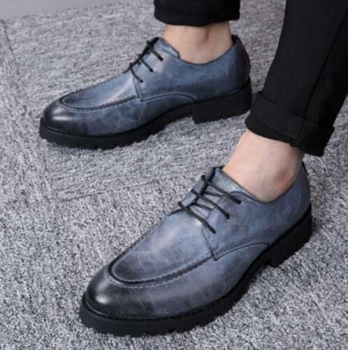 Fashion Men/'s Cuban Heel Dress formal Pointed toe Oxfords lace up Casual shoes