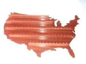 84pc-U-S-A-Wooden-Thimble-Display-Rack-Mahogany-huge-range-see-list