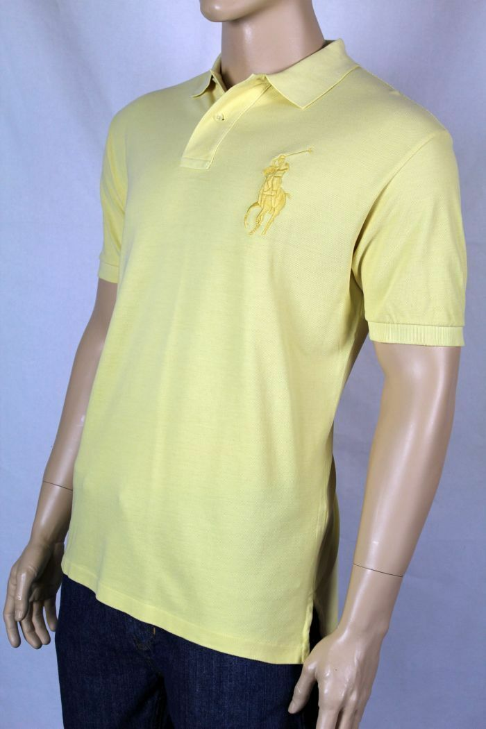 Ralph Lauren Large Yellow Big Pony Mesh POLO NWT L