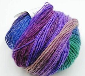 50g-Gruen-Bunt-Regenbogen-Farbverlauf-Bobbel-Wolle-Garn-zum-Stricken-Haekeln