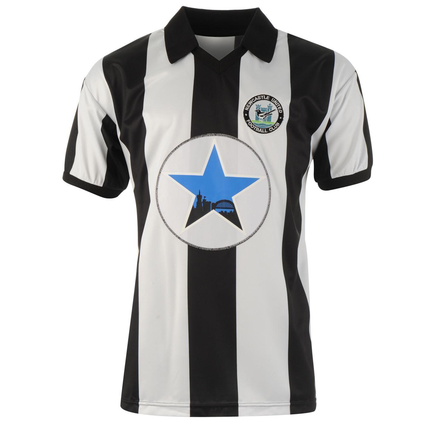 Newcaste United 1982 Retro Heim Trikot Herren Schwarz Weiß Fußball Hemd  | Attraktives Aussehen