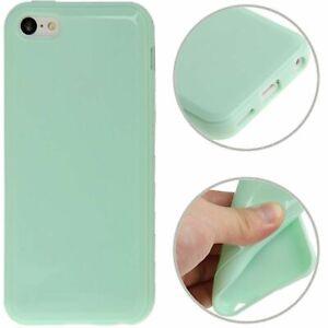 Tpu-Case-Etui-Coque-Cadre-Housse-Etui-Pour-Telephone-Apple-IPHONE-5C-Vert-Clair