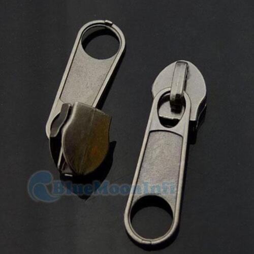 Tirette de fermeture à glissière en Slider #3#5 moulé Sew Remplacement Kit Stop Couture Zip /& Bouchon