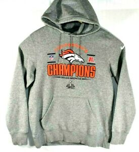 new style 16803 5b281 Details about NIKE Size LARGE NFL Team Denver Broncos Champions Conference  Hoodie Sweatshirt