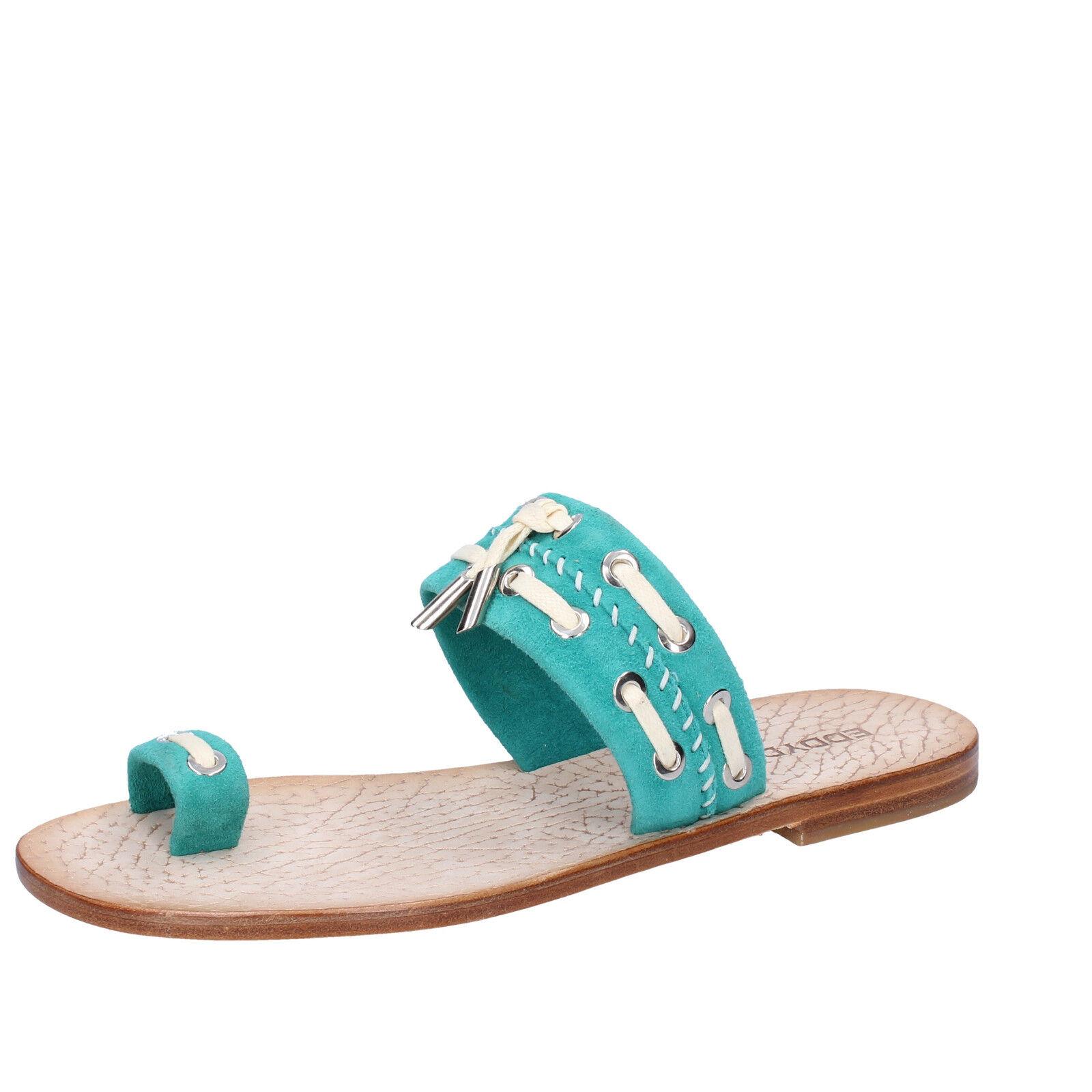 Scarpe donna EDDY DANIELE camoscio 37 EU sandali verde camoscio DANIELE AW307-37 894f79