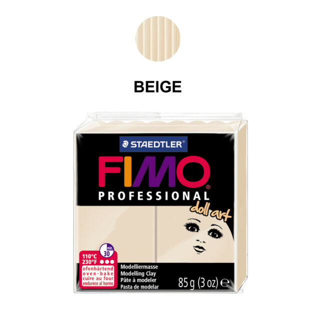 Professional Doll Clay FIMO 454g Porcelain Rose Cameo Beige Sand Arts /& Crafts