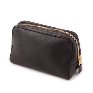 New-990-TOM-FORD-Soft-Dark-Brown-Leather-Dopp-Kit-Travel-Toiletry-Bag-Case