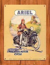 "TIN-UPS TIN SIGN ""Ariel Motorcycle"" Vintage Tire Garage Decor Shop"