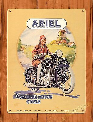 "TIN SIGN /""Indian Motorcycles/"" Sepia Vintage Tire Garage Decor Shop"