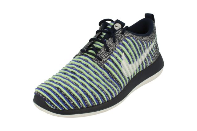 7192376d10ab Nike Ladies SNEAKERS Roshe Two Flyknit Style Running Shoes Navy Size ...