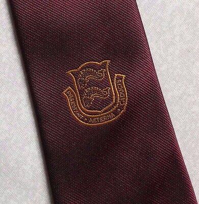 Accurato Vintage Cravatta Da Uomo Cravatta Scudo Crested Club Associazione Società-mostra Il Titolo Originale
