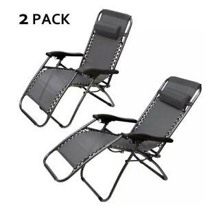 Strange Details About 2Pc Set Zero Anti Gravity Dark Gray Chaise Lounge Recliner Patio Chairs Inzonedesignstudio Interior Chair Design Inzonedesignstudiocom