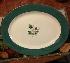 Vintage Homer Laughlin Platter Emerald