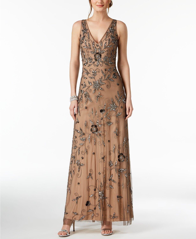 d77b674de42899 Adrianna Papell Embellished Gown MSRP B 376 NEW Größe 0 nyilox3277-Kleider