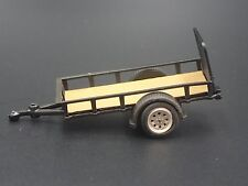 UTILITY TRAILER RUBBER TIRES 1/64 LIMITED EDITION COLLECTIBLE DIORAMA MODEL