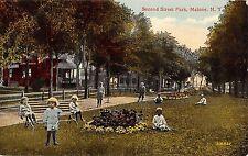 Malone New York Second Street park Children Antique Postcard K34183