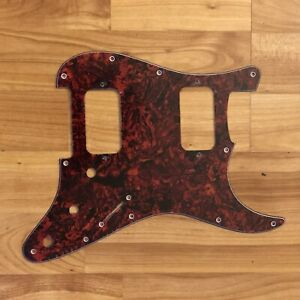 NEW-Red-Tortoise-HH-Stratocaster-PICKGUARD-for-Fender-Strat-Humbucker-Pickups