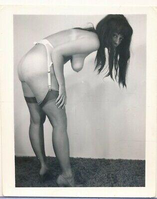 1960s Original 4 x 5 Nude Photo Leggy Buxom Beehive