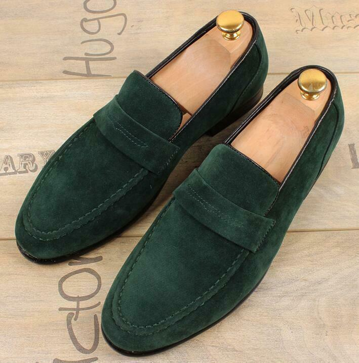 Mens Loafers Slip on Suede moccasin-gommino Driving British Casual shoes US10 W