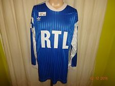 "Olympique Marseille Adidas Langarm Coupe de France Trikot 1990 ""RTL""  Nr.3 Gr.XL"