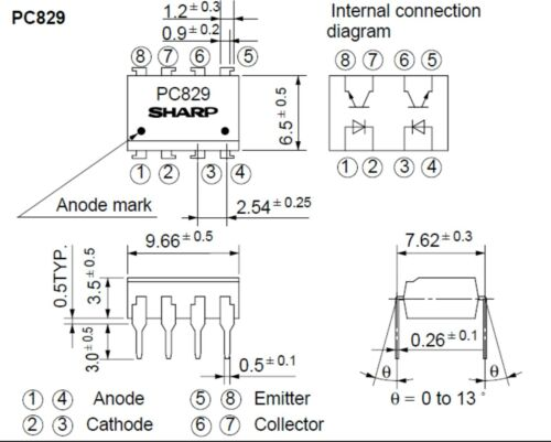 Pc829 Sharp optokoppler optocoupler