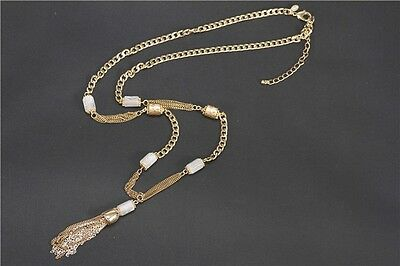 N926 Forever 21 Rhinestone Crystal Bridal Wedding Victorian Tassels Necklace US