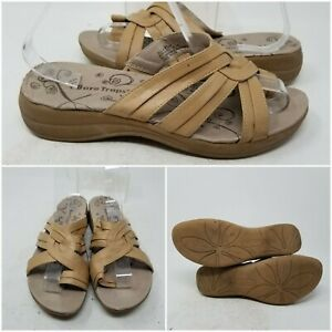 Bare Traps Jolly Brown Slip On Low Top Sandal Slides Women's Size 8.5