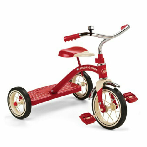 Used Radio Flyer Classic 10in Toddler Tricycle w// Rubber Tires and Steel Frame